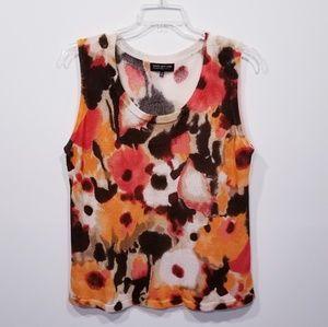 Jones NY Fall Colors Sweater Tank Top size -2X